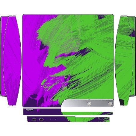 Price comparison product image Graffiti Paint Art Playstation 3 & PS3 Slim Vinyl Decal Sticker Skin by Moonlight Printing