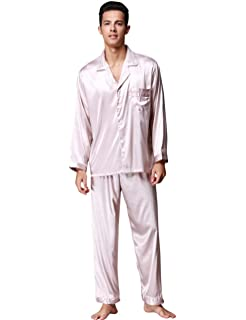 67586e78b3 Men s Pajamas Set Spring Summer Comfort Fit Top Two Pants and Piece Special  Style Lightweight Comfortable