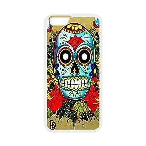 """JCCFAN Sugar Skull Phone Case For iPhone 6 Plus (5.5"""") [Pattern-1]"""