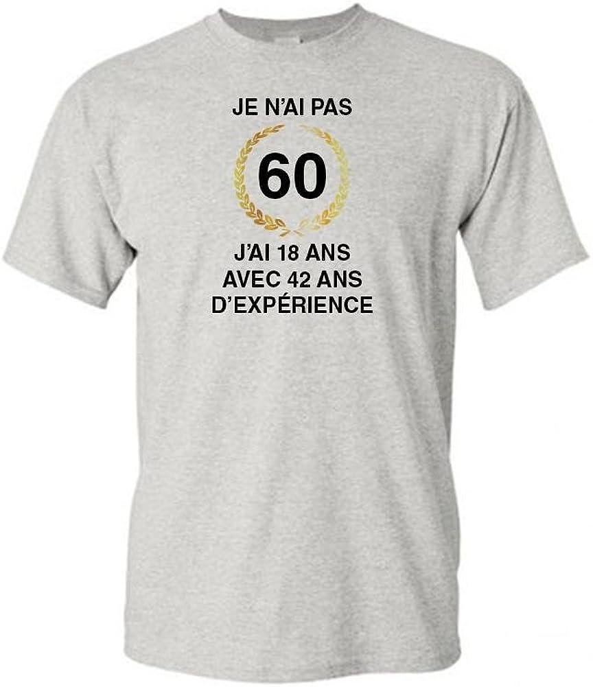 42 dexp/érience Mygoodprice T-Shirt col Rond Homme Anniversaire 60 Ans