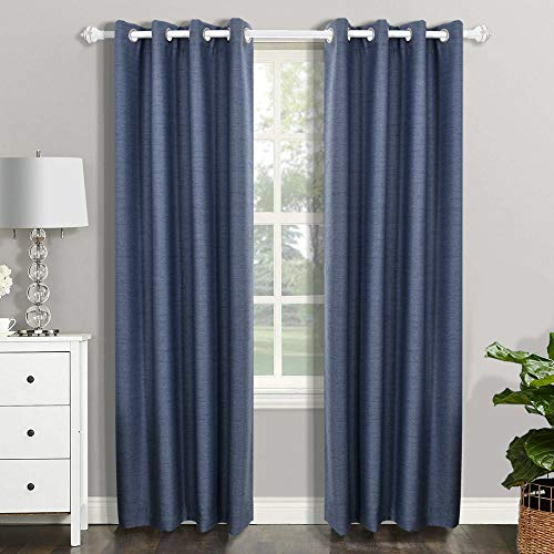 CSOFT Blackout Thermal Insulated Window Curtains(Valance) with Grommets top Darkening Drapes for Bedroom Living Room ()