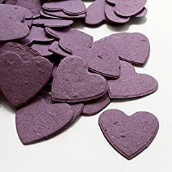 Heart Shaped Plantable Seed Confetti (Purple) - 350 pieces/bag