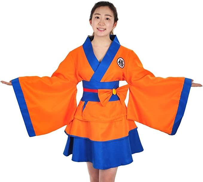 CoolChange Kimono de Dragon Ball para Mujer con diseño de Son Goku ...
