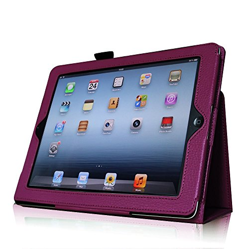 Elegani Slim Leather Case Cover and Stand for iPad 2/3/4 the