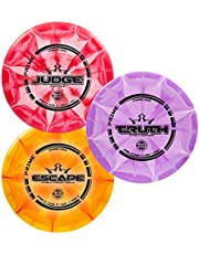 Dynamic Discs 3 Disc Prime Burst Starter Set | Set Includes a Prime Judge, Prime Truth, and Prime Escape | Maximum Distance Frisbee Golf Driver | Frisbee Golf Stamp and Color Will Vary