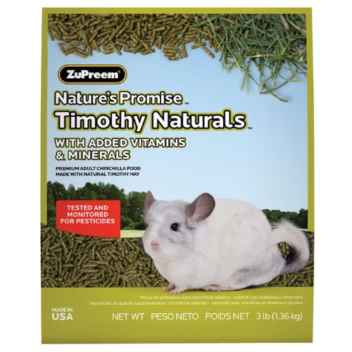 ZUPREEM Nature's Promise Timothy Naturals Chinchilla Food, 3 lbs by ZuPreem