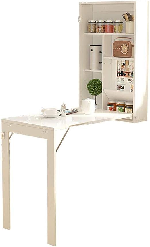 Mesa plegable plegable de pared, mesa de comedor de cocina con ...
