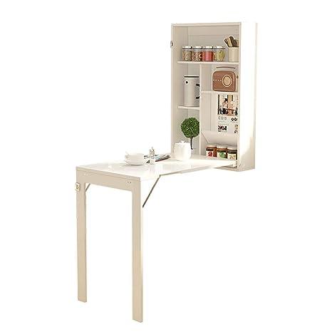 Mesa plegable plegable de pared, mesa de comedor de cocina ...