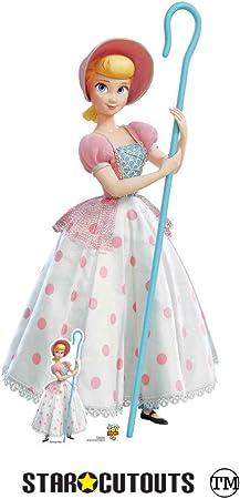 Star Cutouts SC1360 Bo Peep - Figura de juguete de tamaño real (4 unidades, 149 cm de alto), diseño de lunares, color rosa y blanco: Amazon.es: Juguetes y juegos