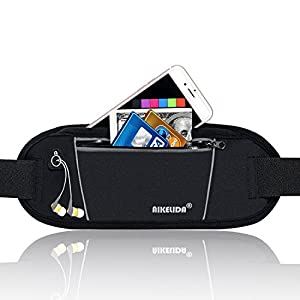 AIKELIDA Running Belt/Fanny Pack/Fitness Belt/Waist Pack for iPhone, Samsung Edge/Note / Galaxy Men, Women during Sports Fitness, Running, Cycling, Hiking, Travel, Workout