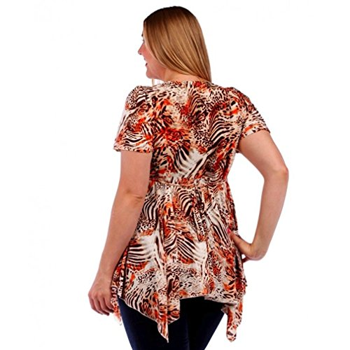 Temptation clothing plus size short sleeve blouse top for Size 5x mens dress shirts