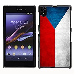 Shell-Star ( National Flag Series-Czech Republic ) Snap On Hard Protective Case For SONY Xperia Z1 / L39H / C6902 / C6903 / C6906