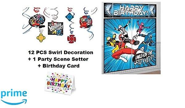 Amazon.com: Power Rangers Ninja Steel Swirl Party Decoration ...