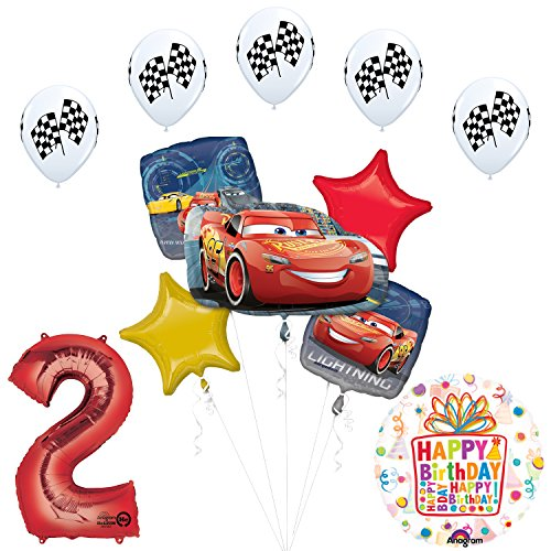 Disney Cars 3 Lighting McQueen 2nd Birthday Party Supplies and Balloon Decorations