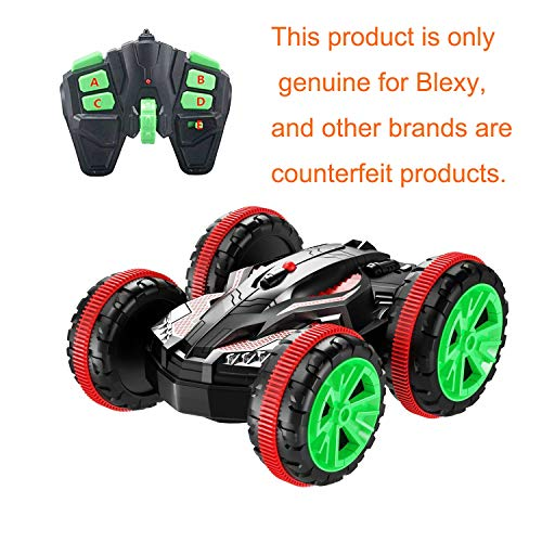 Tank Car Remote Control Toy - Blexy Remote Control Car Boat RC Stunt Car 4WD 6CH 2.4Ghz Land Water Multifunction Amphibious Tank Double Sided Off Road Electric Racing Vehicle 360 Degree Spins and Flips
