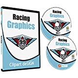 Racing Graphics Clipart-Vinyl Cutter Plotter Race Car Images-Vector Clip Art CD