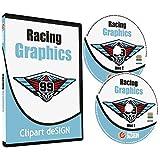 Racing Graphics Clipart-Vinyl Cutter Plotter Race Car Images-Vector Clip Art CD