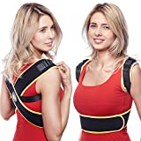 Posture Corrector for Women Men - Back Brace Support - Comfortable Adjustable Correct Natural Body Position   Bad Posture Aid for Shoulder Clavicle Neck Pain   Size 29-40in (S/M)