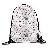 AGMPO Elephant Mom Drawstring Backpacks Sack Bags