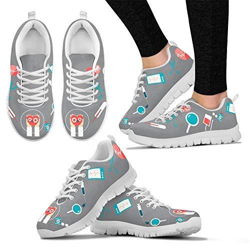 Tennis Womens Sneakers Lightweight Medical Flats Mesh Running Footwear Air Coloranimal Walking Nurse 1 8SRdFxwR