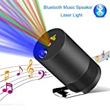 Christmas Bluetooth Projection Light, Personal Portable music speaker Lights, Voice-Activated Rhythm Light Perfect for DJ Disco Party, Home Show, Birthday Party, Stage and Camping