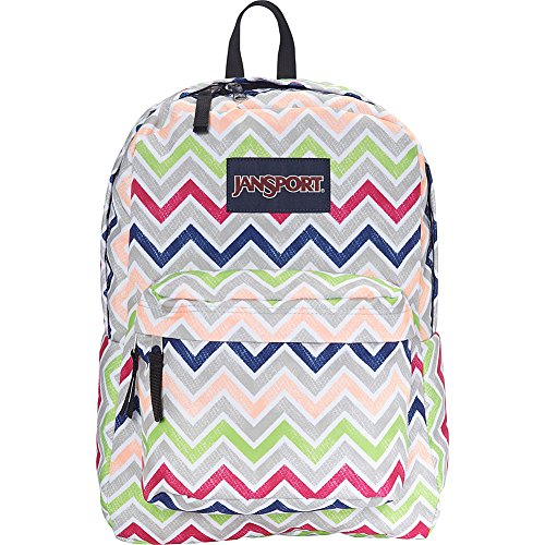 Pink Black Chevron Backpack Summer Superbreak adult Jansport Unisex Label Cyber E6apgw4q0