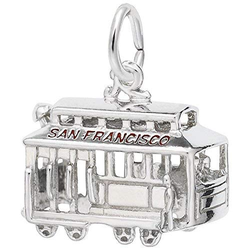 Rembrandt Charms, Cable Car, San Francisco.925 Sterling Silver ()