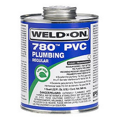 Weld-On 14003 1/2 Pint 780 Regular Body PVC Cement, Clear, 1-Pack