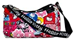 LeSportsac Hello Kitty Collector Exclusive Deluxe Lulu Bag, Style 2780/Color G631, Hello Kitty Embroidered Lettering on Strap & Hello Kitty Design Zipper Pull