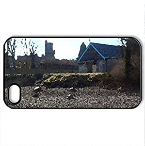 A beach less travelled - Case Cover for iPhone 4 and 4s (Religious Series, Watercolor style, Black)