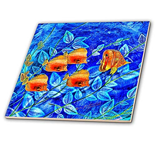 3dRose Tropical Fish - Ceramic Tile, 4-inch (ct_4473_1)