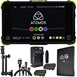 Atomos Shogun Flame 7'' 4K Recorder Monitor, G-Technology Atomos Master Caddy 4K 512GB SSD, Battery, Charger, Caltar 7'' Articulating Magic Arm, HDMI A-D Basic 3' Cable and HDMI A-C Basic 3' Cable