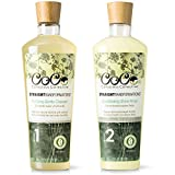 ultra black hair growth ii - CoCo Conscious Collective Straight Transformations Certified 100 Percent Natural Shampoo and Conditioner Set (2 x 12 ounce), All Hair Types, Sulfate Free, Paraben Free, Organic Hair Care