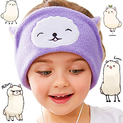 FIRIK Kids Headphones Volume Limited with Easy Adjustable Kids Costume Headband Silky Headphones for Children, Perfect for Travel and Home - Catsheep