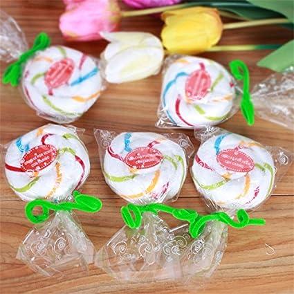 5pcs Lollipop Candy toalla manopla de boda Favor Baby Shower decoración Wrap de postre