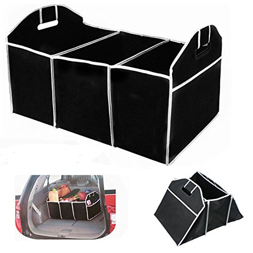 Storage Box Organizer Car Trunk Folding Box Bag Auto Collapsible Cargo Bin Truck Multipurpose Home Black - Paso Tx Vista El