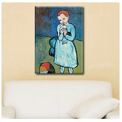 "Alonline Art Child With Dove Pablo Picasso POSTER PRINTS ROLLED (Print on Fine Art PHOTO PAPER) 12""x17"" - 30x43cm Wall Art Pictures Poster For Living Room Posters Posters For Bedroom"