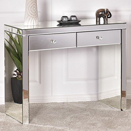 Giantex Mirrored Console Drawers Dressing