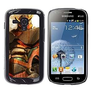 // PHONE CASE GIFT // Duro Estuche protector PC Cáscara Plástico Carcasa Funda Hard Protective Case for Samsung Galaxy S Duos S7562 / Mech Gundam /