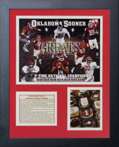 Legends Never Die Oklahoma Sooners Greats Framed Photo Collage, 11 by 14-Inch - Oklahoma Sooners Photograph