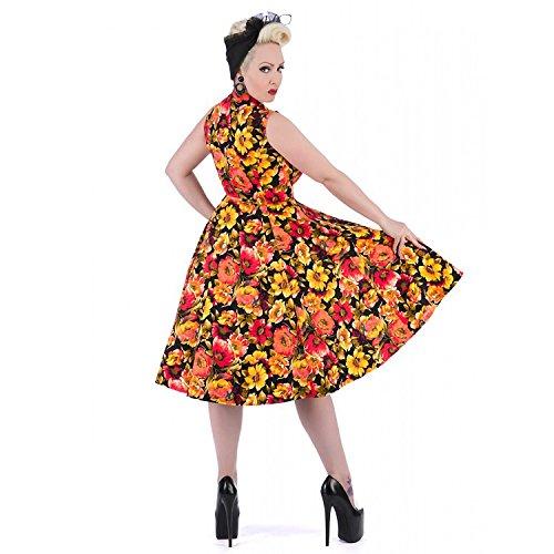 Hearts and Roses London doré doré Floral 1950s Style Vintage Idéale Pour Le Thé / Fête robe RU avec Exclusive Starlet Sac Fourre-tout