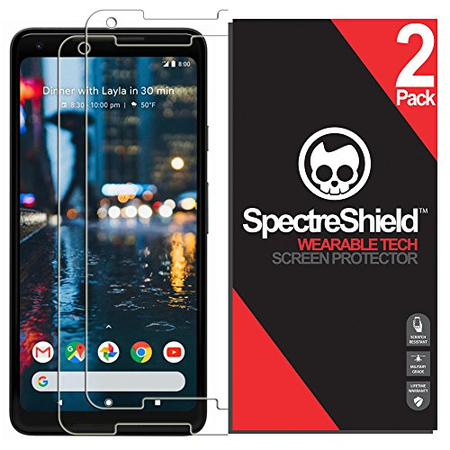 Spectre Shield (2 Pack) Screen Protector for Google Pixel 2 XL Accessory Google Pixel 2 XL Case Friendly Full Coverage Clear Film
