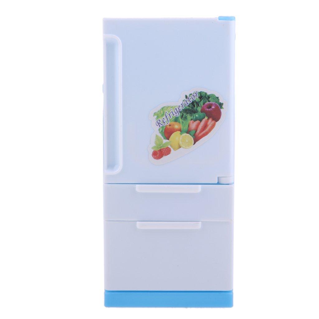 NON MagiDeal Mini Juguete Modelo de Refrigerador de Plástico para Barbie Muñeca non-brand