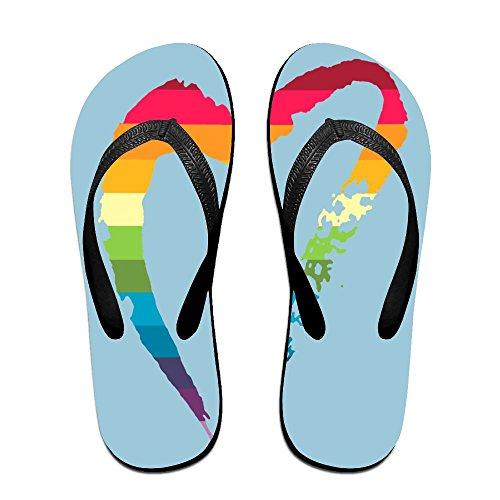 a60b2275339f Creative Rainbow Gay Pride Heart Logo Unisex Comfortable Beach Flip Flops  Sandals Slippers Sandal For Home