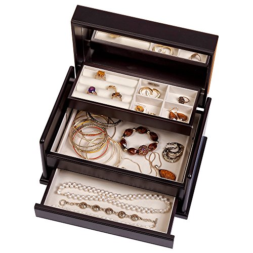 Mele & Co. Juliette Wooden Jewelry Box (Java Finish) by Mele & Co. (Image #2)