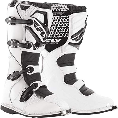 Mens Boots Motocross (Fly Racing Unisex-Adult Maverick Mix Boots (White, Size 10))