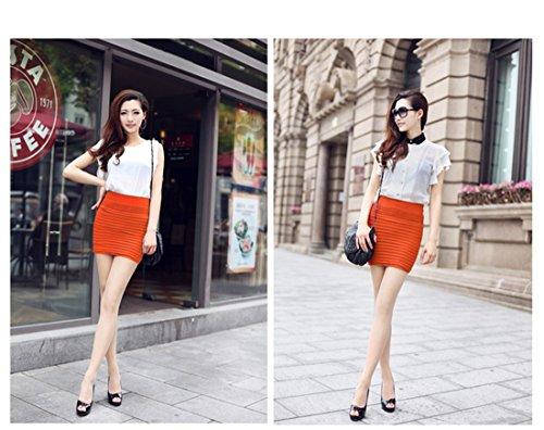 Hanche Orange Package Moulante Jupe Encounter Femme haute courte taille plisse qT616Cx