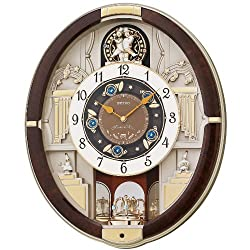 SEIKO Golden Trumpets Melodies in Motion Clock, Multi