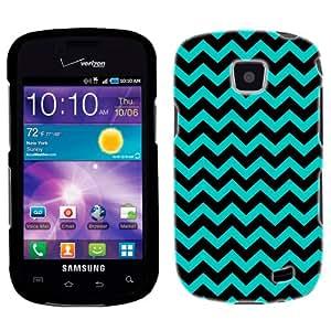 Samsung Galaxy Proclaim Chevron Zig Zag Turquoise & Black Phone Case Cover