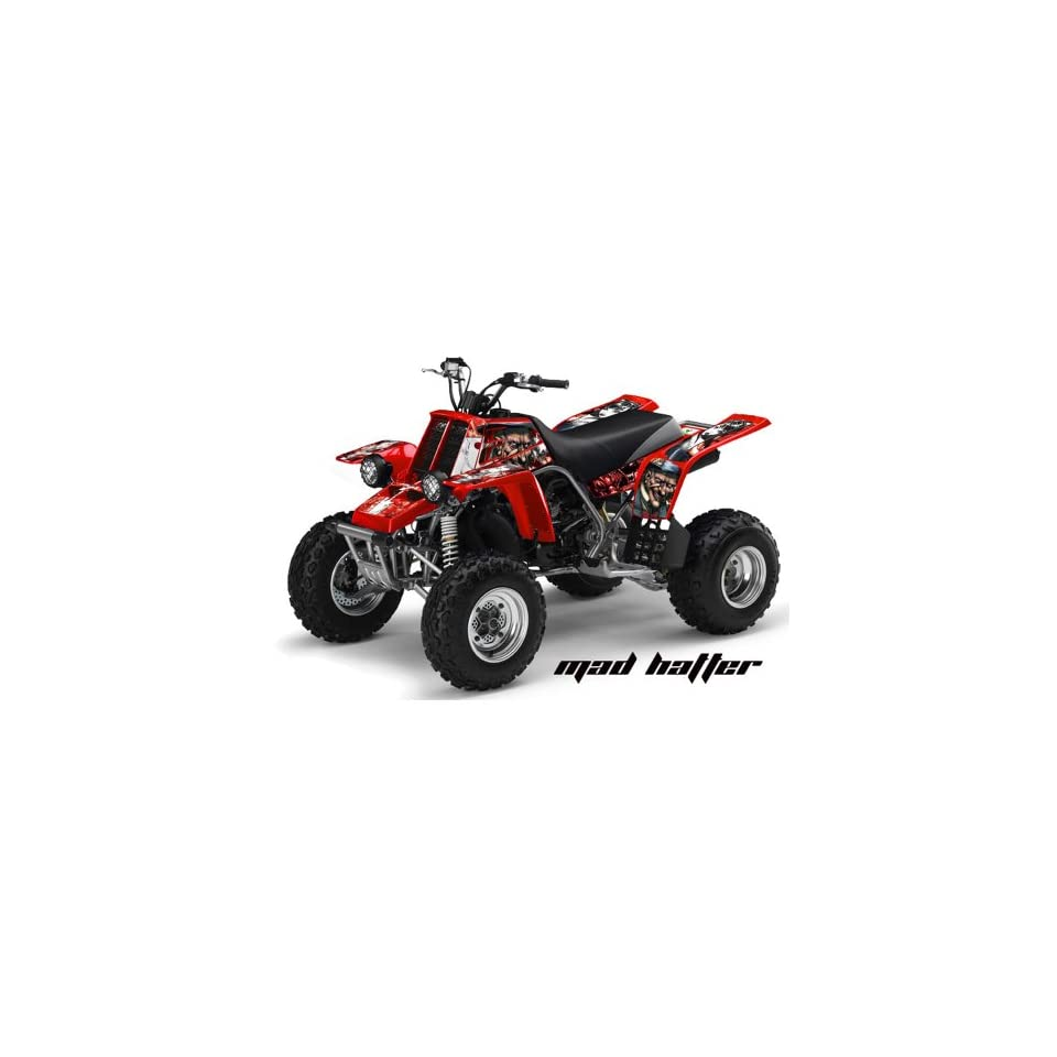 AMR Racing Yamaha Banshee 350 ATV Quad Graphic Kit   Madhatter Red, White